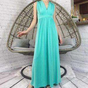 Cache Maxi V Neck Dress - Teal